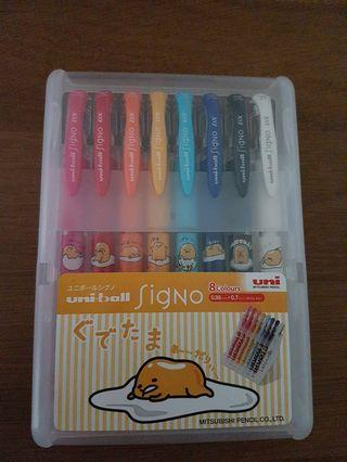 Gudetama uniball signo 8 colors limited edition