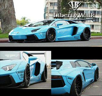 D&G Resin 1:43 Lamborghini Aventador LB Performance WidyBody【Light Metallic Blue/Limited*37/60】