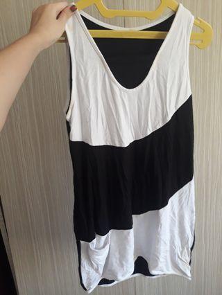 DRESS WANITA BLACK & WHITE