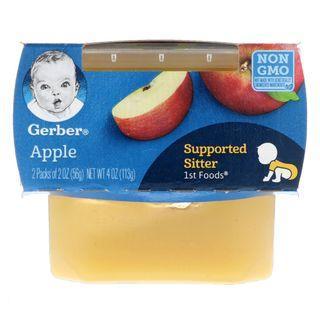Gerber, 1st Foods, Apple / Banana / Butternut Squash / Carrot / Green Bean / Pea / Peach / Pear / Prune / Sweet Potato, 2 Pack, 56 g Each