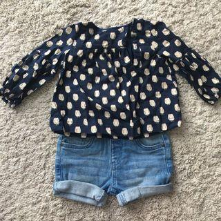 🚚 Toddler Casual Outfit top and bottom