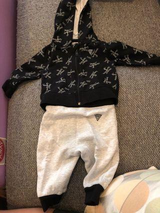 🚚 GUESS LA jacket and pants set 3-6 months