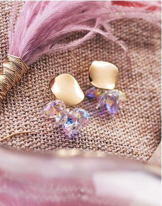 Gold and crystal earrings - high end quality and limited edition