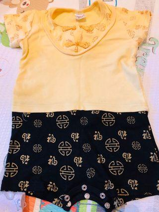 Chinese Traditional Wear Cotton Baby Romper 12months
