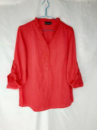 Executive red blouse