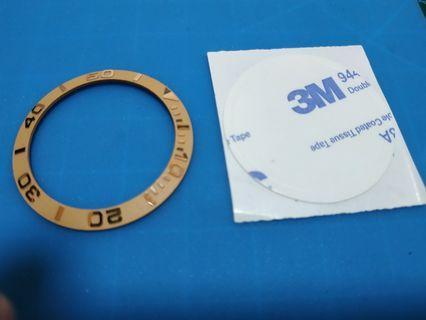 🚚 38mm YM Rose Gold Ceramic Insert for SKX 007/009