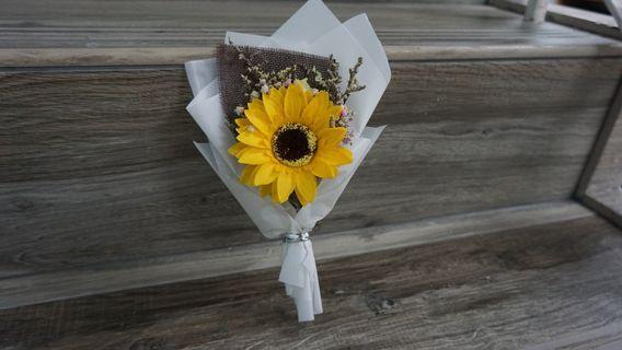 太陽花乾花花束