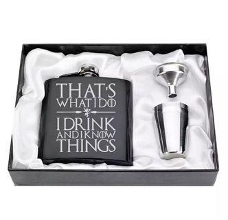 Game of Thrones flask gift set