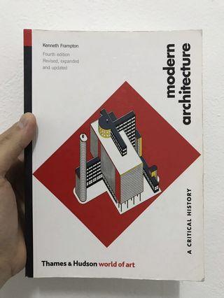 """Buku arsitektur """"Modern Architecture"""""""
