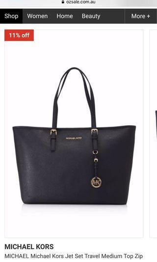 Michael Kors Black Large Tote Bag