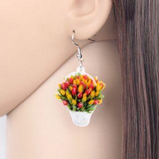 Tulip Basket Earrings