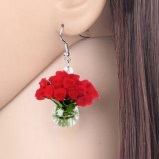 Rose Vase Earrings