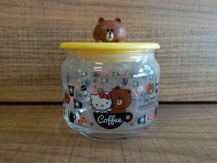 7-11 Line friends×Hello Kitty 玻璃瓶