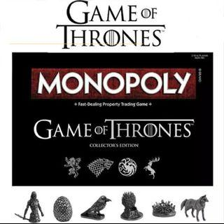 Game of Thrones Collectors Edition Monopoly