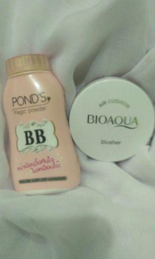 bb ponds magic powder & air cushion bioaqua blusher