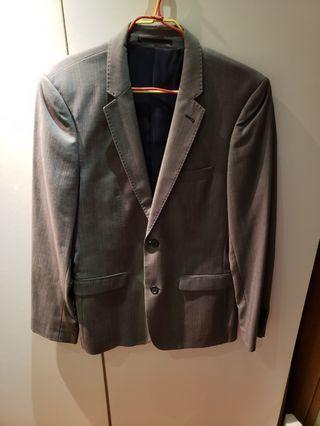 Topman Gray Blazer jacket uk 38 西裝外套 Small-Medium