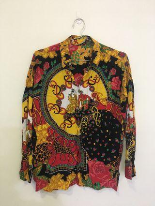 古著很花ㄉ酷酷ㄉ襯衫