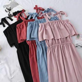 [PO] 2019 korean spring and summer style strap dress