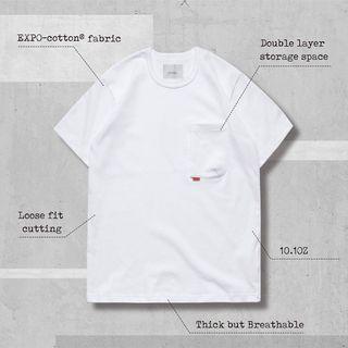 """GOOPIMADE 孤僻君 """"Type-W 3D Pocket Tee"""" -EXPO® cotton - White"""