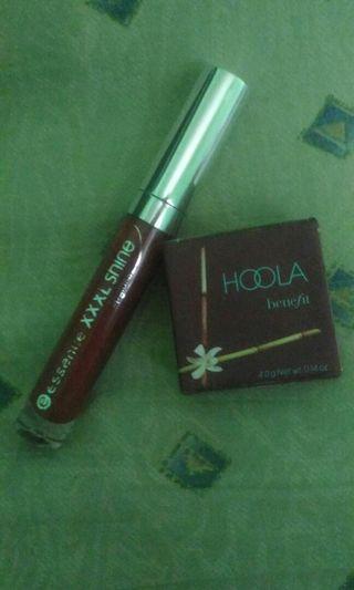 Hoola bronzer and Essence lipgloss