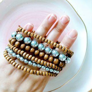 木珠銀珠層次手鏈