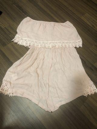 Cotton on pink jumpsuit