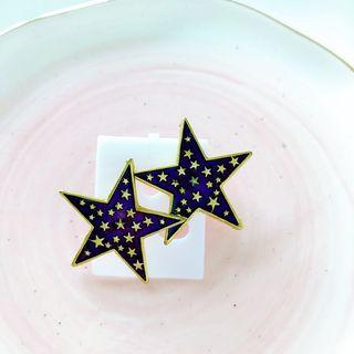紫金星星復古耳環