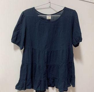blue babydoll/pelpum top