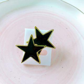 黑金星星耳環