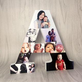 Alphabet Photo Montage Personalised Gift