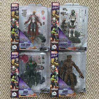 Marvel Select: Guardians Of The Galaxy Set of 4