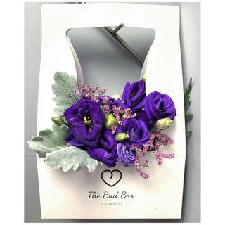 Deep Purple Eustoma Bloom Box [FREE Delivery]