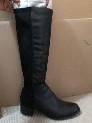 Novo black long boots