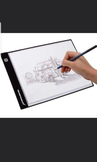 🚚 Ultra thin light compact A4 LED light box tracing board artist artcraft drawing board designer graphic sketching animation design tracing tattoo copy table pad