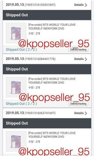 [CONFIRMED NON-PROFIT PRICE + SHARING WITH EMS] BTS LOVE YOURSELF 'NEW YORK' DVD