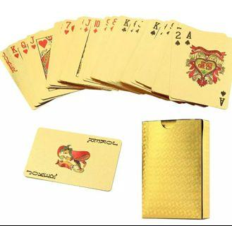 Gold plated poker cards