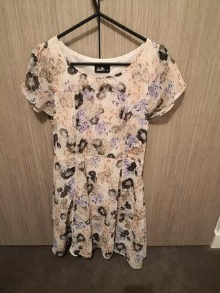 Dotti size 10 floral dress