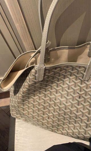 Goyard PM inspired tote bag in khaki