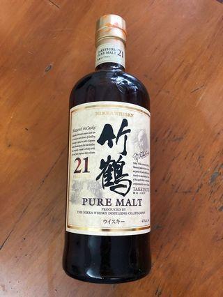 🥃竹鶴21年 日本威士忌 Nikka Whisky Taketsura 21