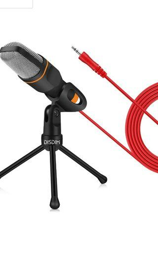 🚚 Condenser microphone PC microphone Recording microphone with mic stand for PC laptop gaming singing youtube skype QQ