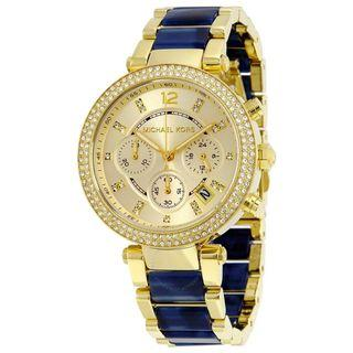New MICHAEL KORS Parker Multi-Function Champagne Dial Ladies Watch (MK6238)