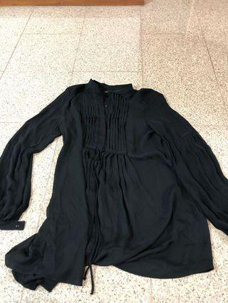 Zara basic black TOP