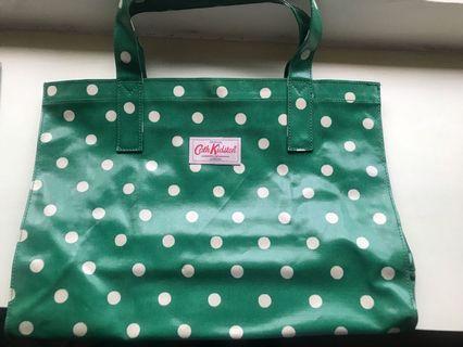 Cath Kidston Green Polka Dot Tote Bag