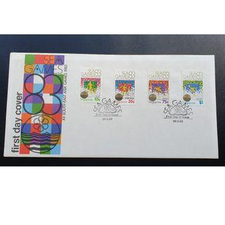 """1983 Singapore First Day Cover - """"XII South East Asia Games 1983"""""""