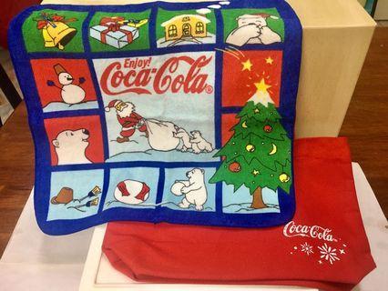 Coca Cola set bag and handkerchiefs