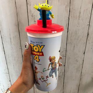 香港戲院限定迪士尼Toy Story反斗奇兵4胡迪三眼仔汽水杯