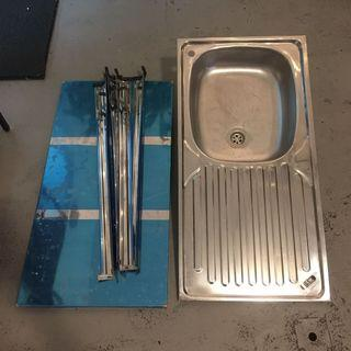 NEW single stainless sink
