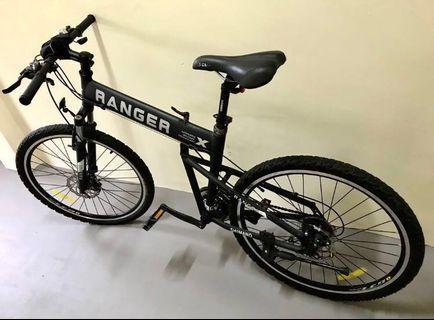 (PRICE DROP) Montague Ranger Foldable Mountain Bike (Black)