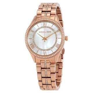 New MICHAEL KORS Lauryn Crystal Mother of Pearl Dial Ladies Watch (MK3716)