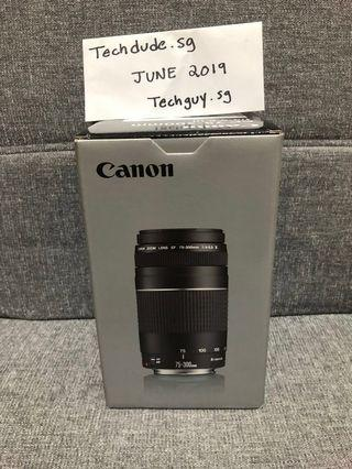 Canon EF 75-300mm f/4-5.6 DSLR Lens *BRAND NEW IN BOX*